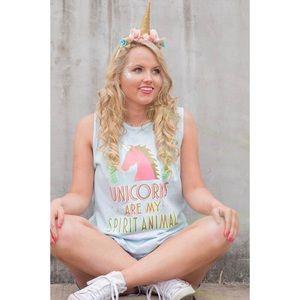 Jadelynn Brooke Tops - CLEARANCE Jadelynn Brooke Unicorn Tank NWT
